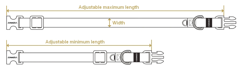 Adjustable length of collars