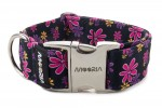 Collar Simply Flowers with metal buckle