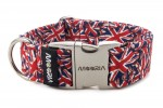 Collar Union Jack with metal buckle