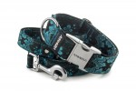 Collar Abstract Blue with a leash