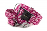 Leash Camouflage Pink with the collar