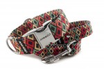 Collar Color Rhombus with a leash