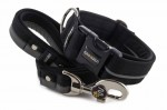 Collar Reflex Black I with a leash
