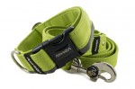 Leash Reflex Lime Green with the collar