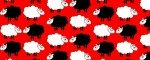 Collar Sheep Dream Red - Pattern