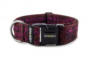 Collar Staffordshire Bull Terrier Pink