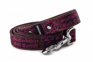 Leash Staffordshire Bull Terrier Pink