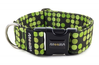 Collar Bright Green Dots