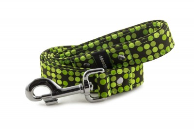 Leash Bright Green Dots