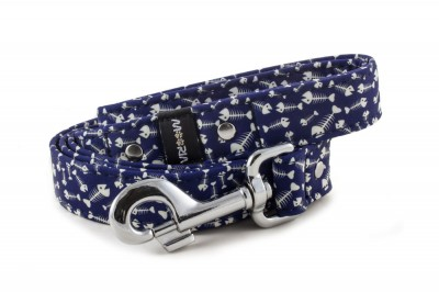 Leash Fishbone Blue