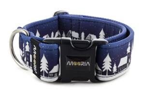 Collar Winter Village Blue