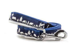 Leash Winter Village Blue